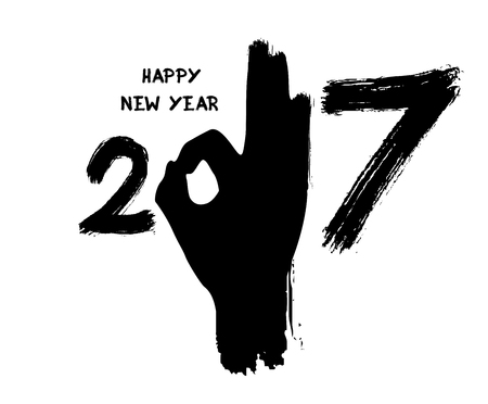 Happy New Year 2017 from the sign ok