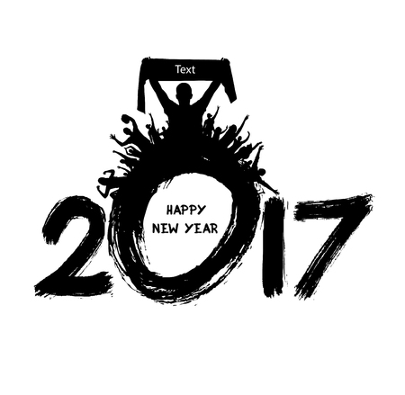 Happy New Year 2017 from the spot fans. Illustration