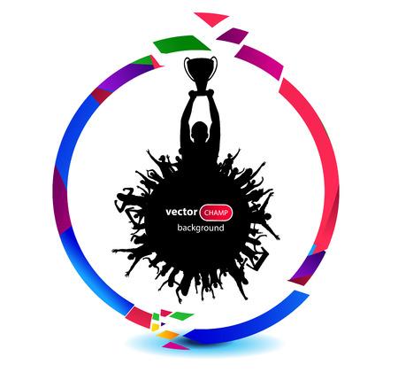 Champions Cup. Poster Ilustração