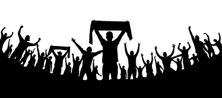 joyous life: Background with cheering people Illustration