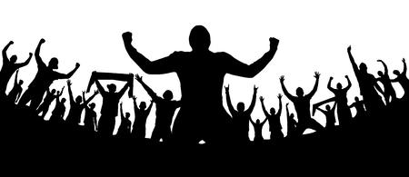 응원하는 사람들과 배경 스톡 콘텐츠 - 81055150