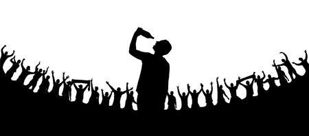 Banner man om mensen te drinken en te vermaken. Stock Illustratie