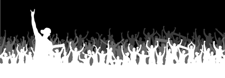 Background with crowd people. Illustration