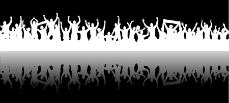 Achtergrond met menigte mensen. Stock Illustratie