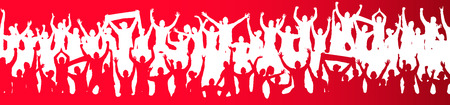 joyous life: Background with crowd people. Illustration