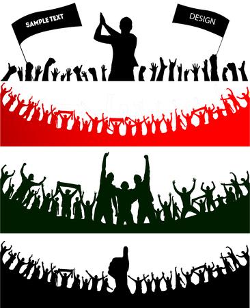 Background with cheering people. Banco de Imagens - 82554381