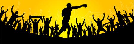 Shadow Boxing.Poster. Banco de Imagens - 82554243