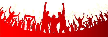 Background with cheering people Banco de Imagens - 82573036