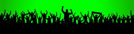 Background with cheering people Ilustração