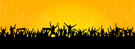 Background with cheering people Banco de Imagens - 82525638