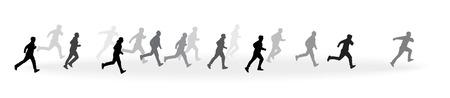 Running mans Ilustração