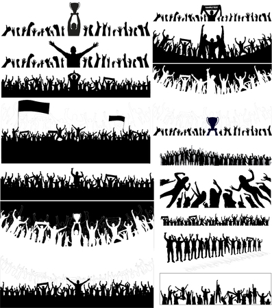 joyous life: Backgrounds from the Crowd. Illustration