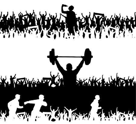 Collection of silhouettes of sports people Banco de Imagens - 82551611