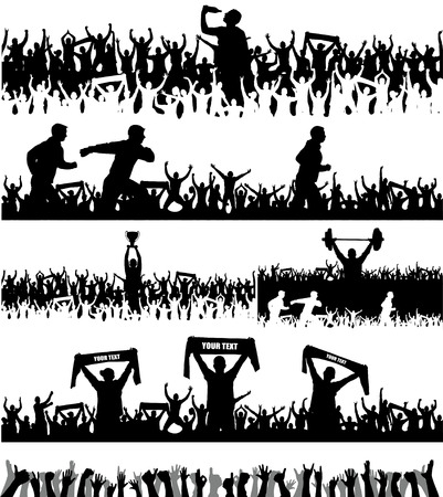 Collection of silhouettes of sports people