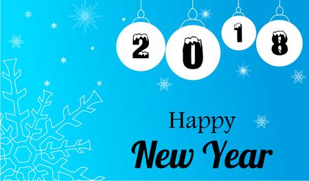 Happy New Year 2018 Ilustração