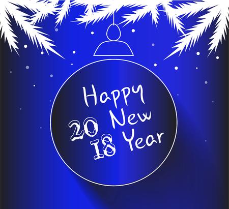 Happy New Year 2018 Illustration