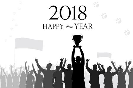 Happy sports year Banco de Imagens - 91265015