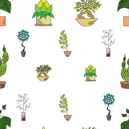 観葉植物のシームレスなテクスチャ