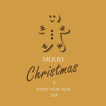 クリスマス カード 2018  イラスト・ベクター素材