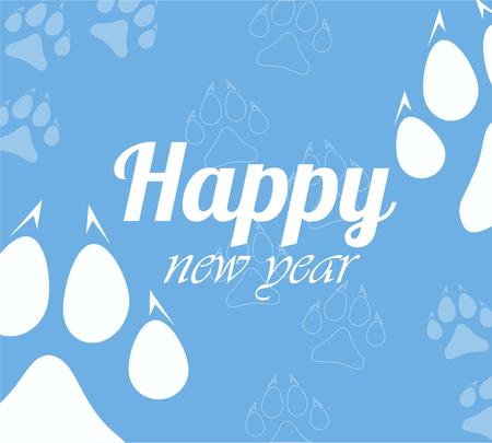 Christmas cards 2018 per year dog Illusztráció