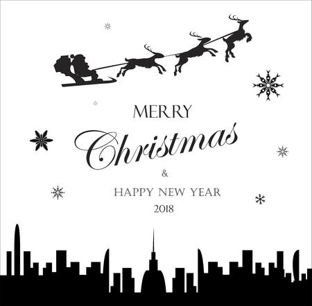 メリークリスマスホリデーベクトル