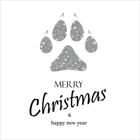 クリスマスカード2018年犬