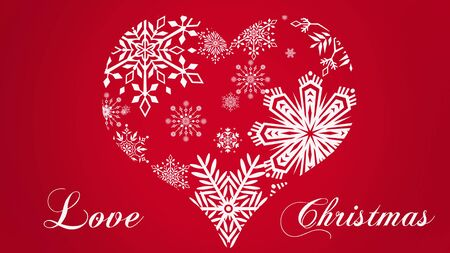 I love Christmas and Happy New Year Banque d'images