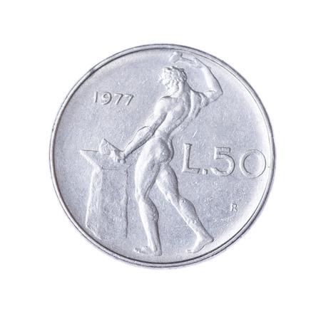 lira: Italian lira isolated on a white background