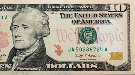 alexander hamilton: Primo Segretario del Tesoro Alexander Hamilton. ritratto a partire da 10 dollari di banconote