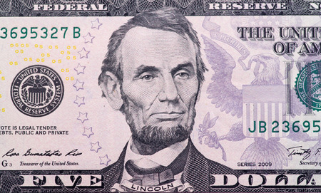 five dollar bill: five dollar bill: abraham lincoln