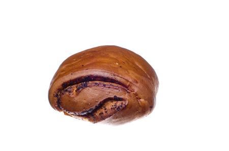 chignon: ruddy chignon isolated on a white background Stock Photo