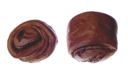 chignon: tworuddy chignon isolated on a white background