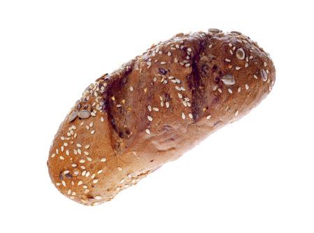 白い背景の上の甘いパン 写真素材
