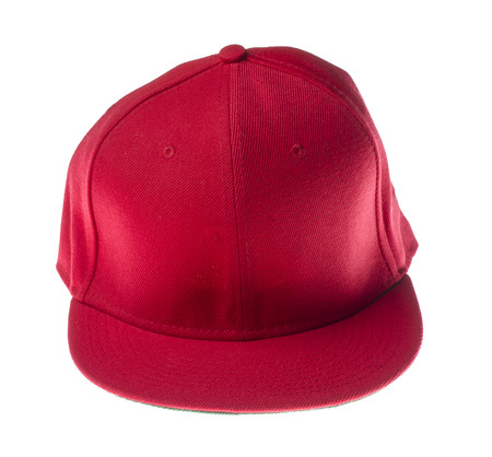 pokrývka hlavy: červené pokrývky hlavy izolovaných na bílém background.isolated na bílém pozadí.