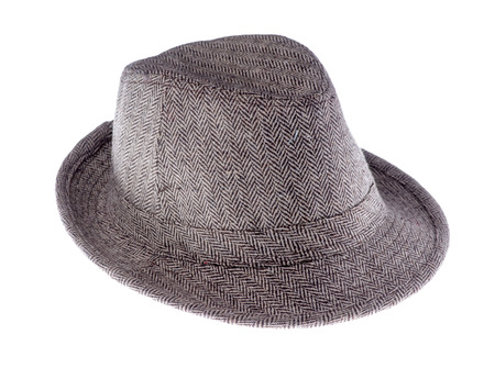 brim: hat with a brim isolated on white background.side view Stock Photo