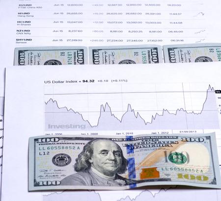株式取引のスケジュールの分析。 写真素材