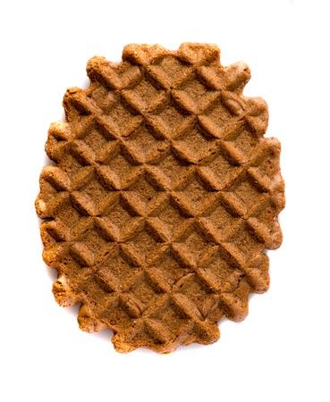 cikolatali: waffle cookies isolated on white background .