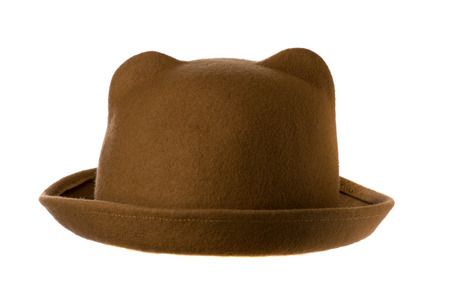 felt: felt hat  isolated on white background .