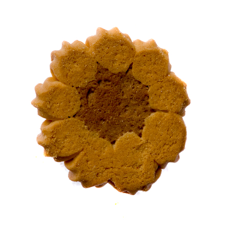 cookies isolated on white background .Top view.