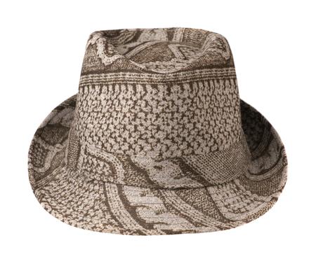 fedora: fedora hat isolated on white background .