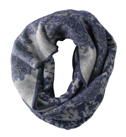 Scarf isolated on white background.Scarf  top view . Stock Photo