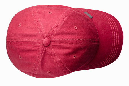 sports cap isolated on a white background .red cap .