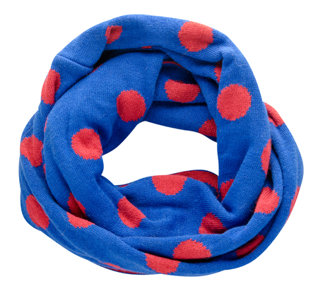 Scarf isolated on white background.Scarf  top view .Blue scarf in red circle.