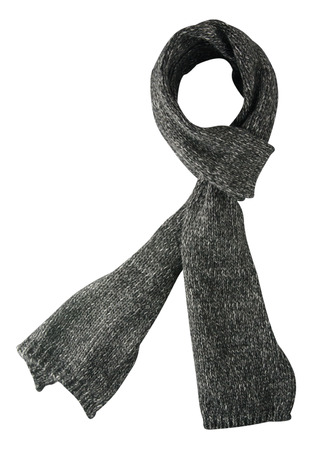 Scarf isolated on white background.Scarf  top view . gray scarf