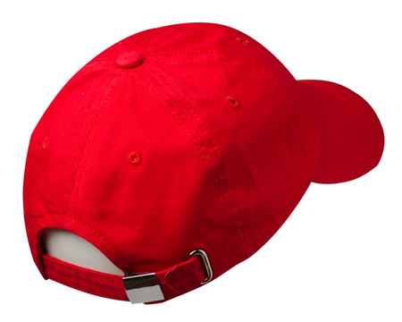 sports cap isolated on a white background .red cap