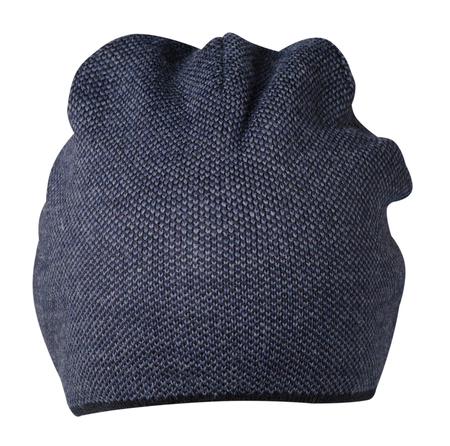 winter fashion: hat isolated on white background .knitted hat .blue hat Stock Photo