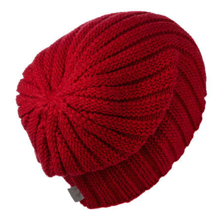 hat isolated on white background .knitted hat . Stock Photo