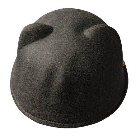 Womens hat felt isolated on white background .fashion hat felt.