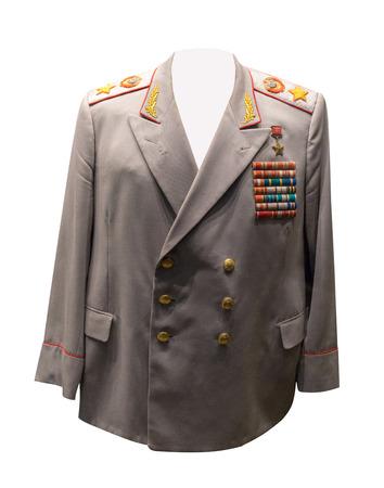 vintage Soviet military clothing.jacket of the Soviet marshal . Stock Photo