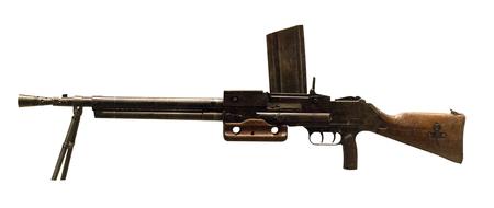 machine gun hand isolated on a white background. machine gun manual Czechoslovakia 1936 g during the Second World War.